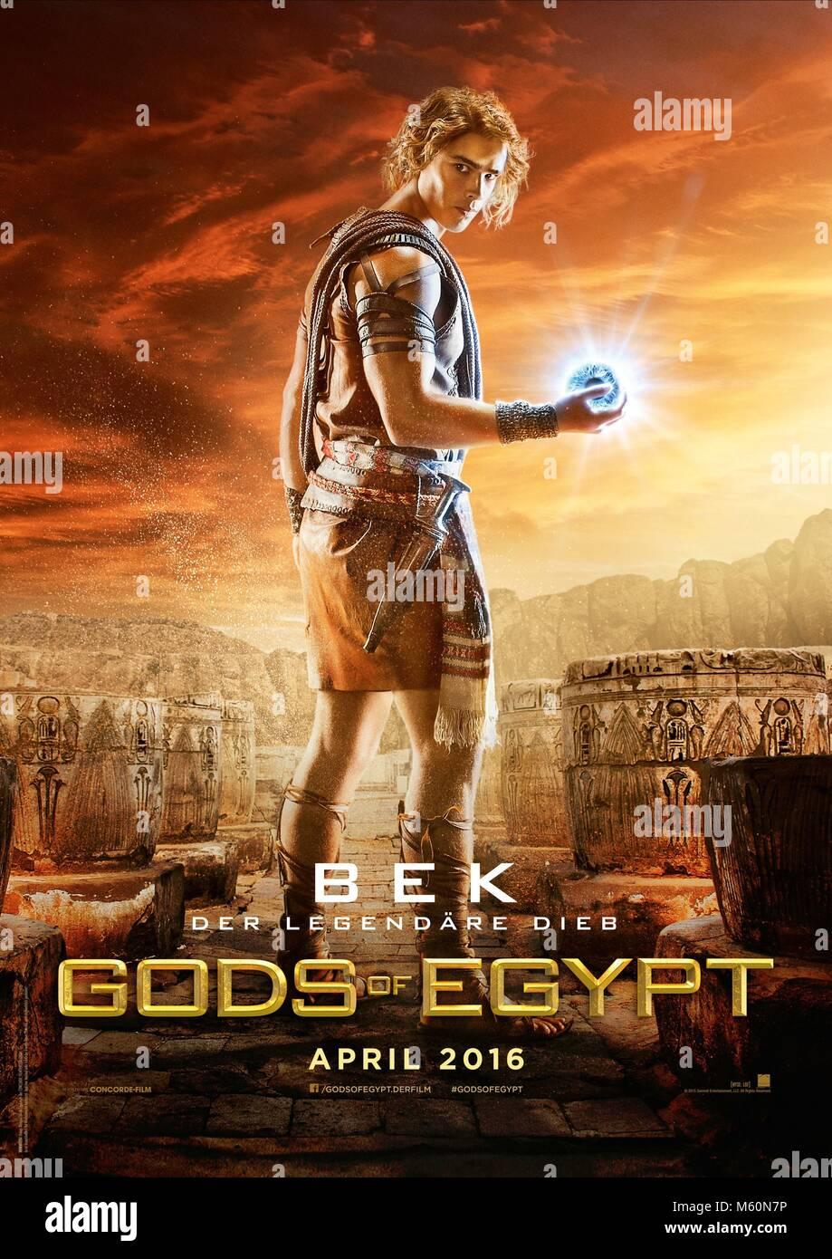 BRENTON THWAITES POSTER GODS OF EGYPT (2016) - Stock Image