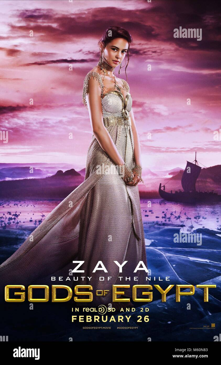 COURTNEY EATON POSTER GODS OF EGYPT (2016) - Stock Image