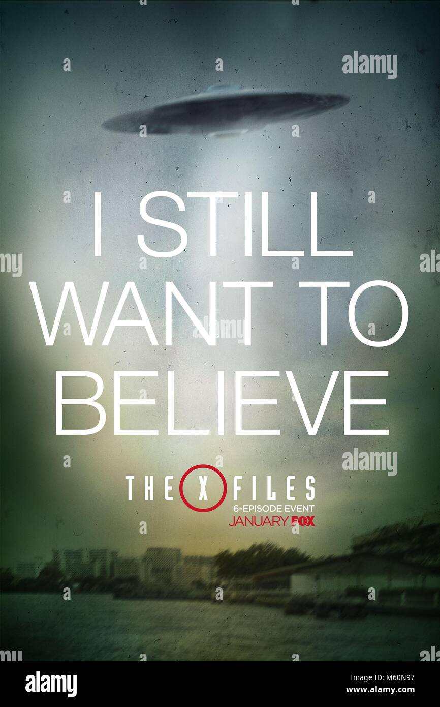 MOVIE POSTER THE X-FILES; THE X FILES (2016) - Stock Image
