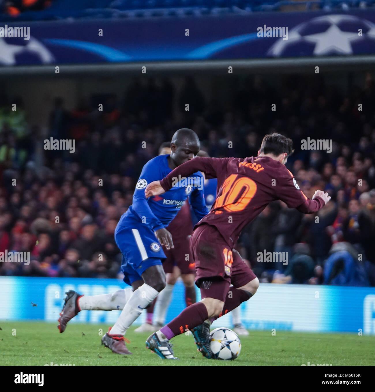 February 20, 2018 - London, United Kingdom - N'Golo Kante of Chelsea