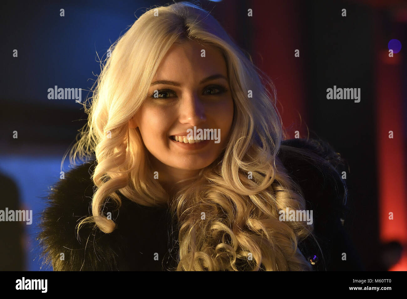 February 24, 2018 - Miss Germany  2018 competition takes place in the Europa-Park Arena in Rust. Student Anahita - Stock Image
