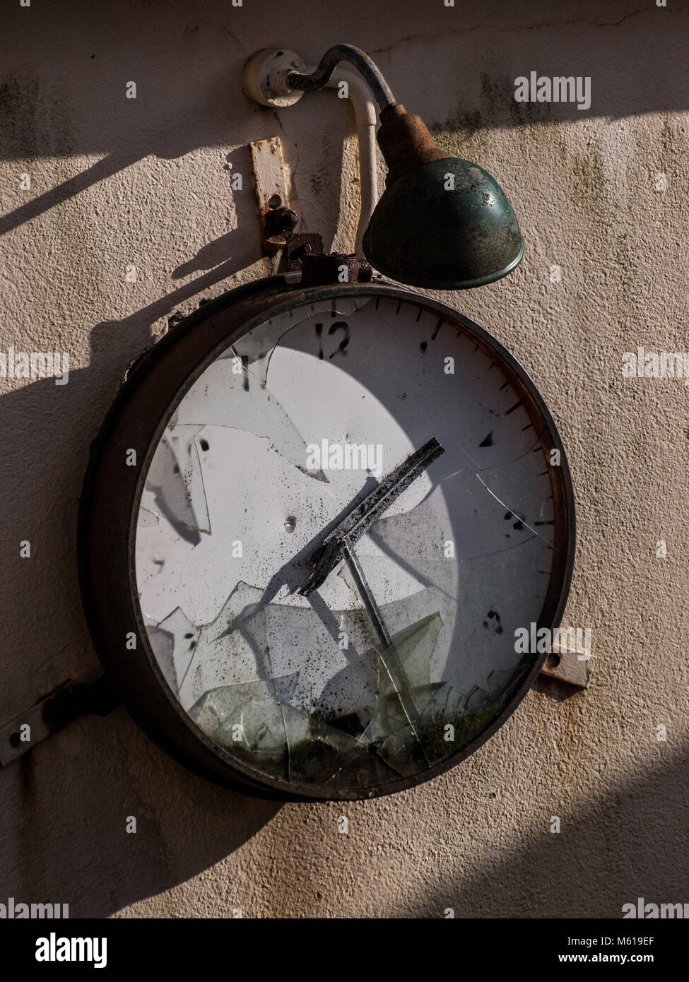 Old factory clock - Stock Image
