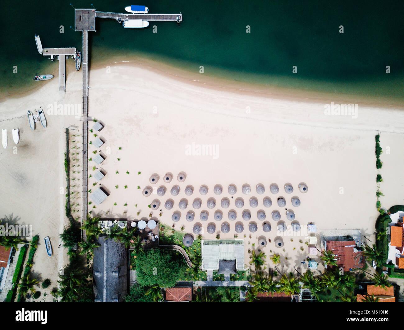 Mussulo beach in Luanda, Angola Stock Photo