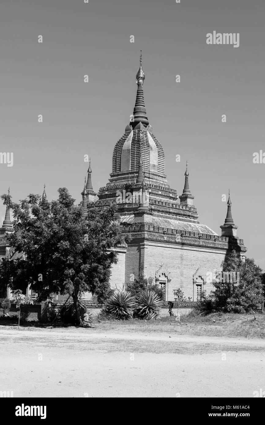 Ancient Pagoda in Bagan, Myanmar - Stock Image