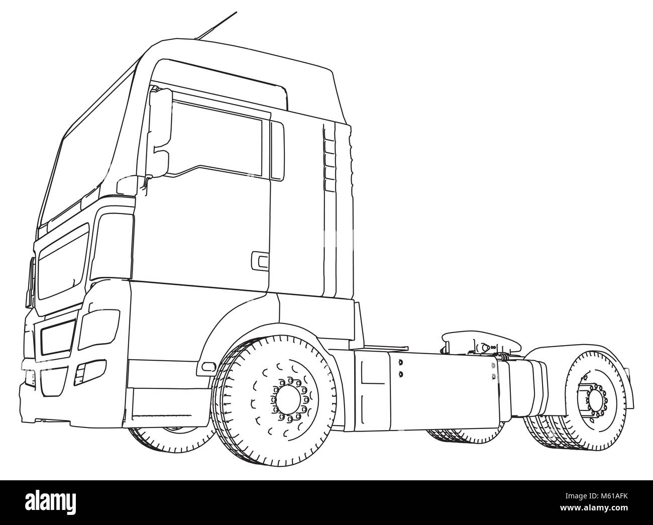 modern cargo truck isolated on grey background eurotrucks delivering M61AFK modern cargo truck isolated on grey background eurotrucks
