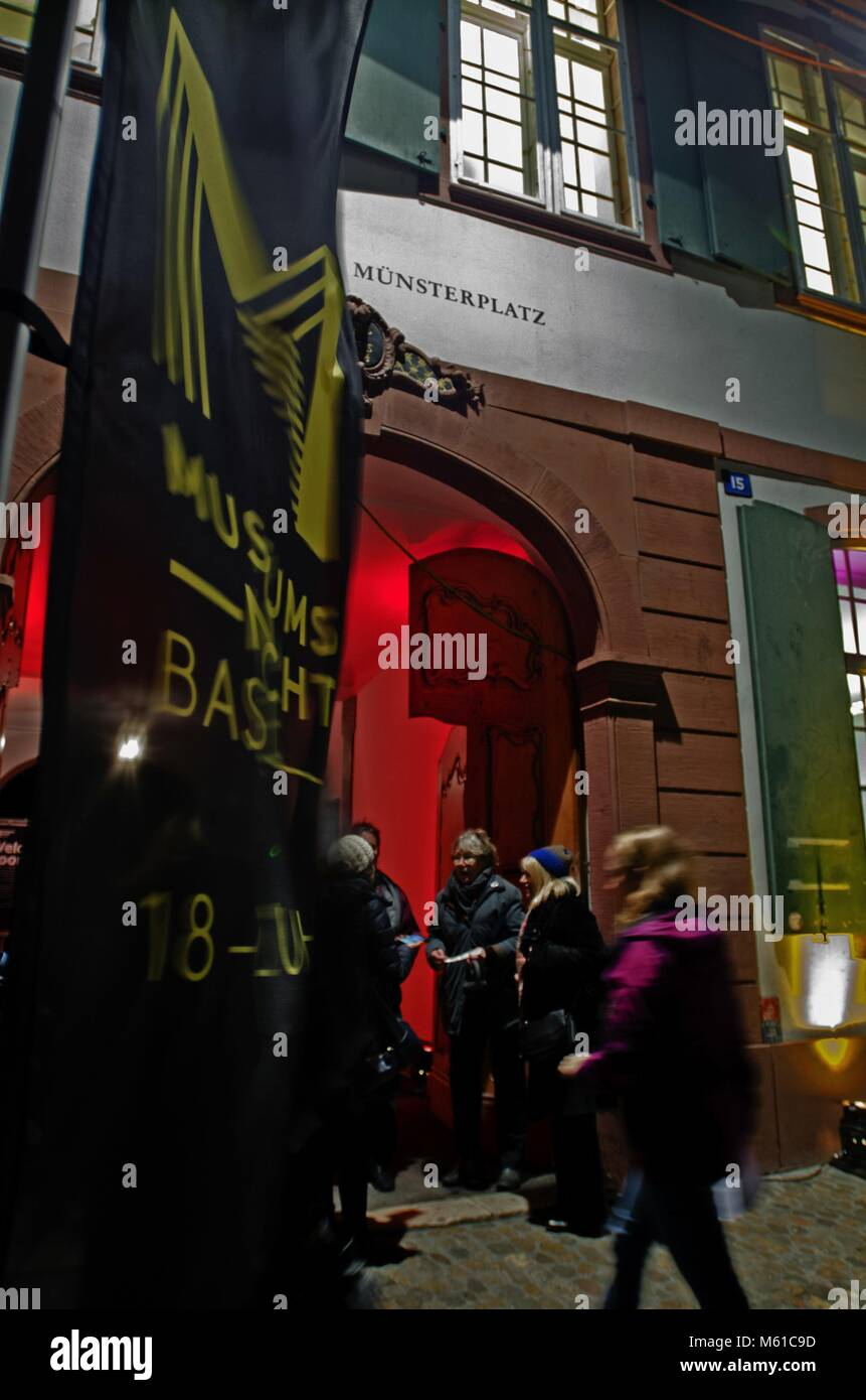 Museum Night Basel 2018, 19 january 2018 | usage worldwide - Stock Image