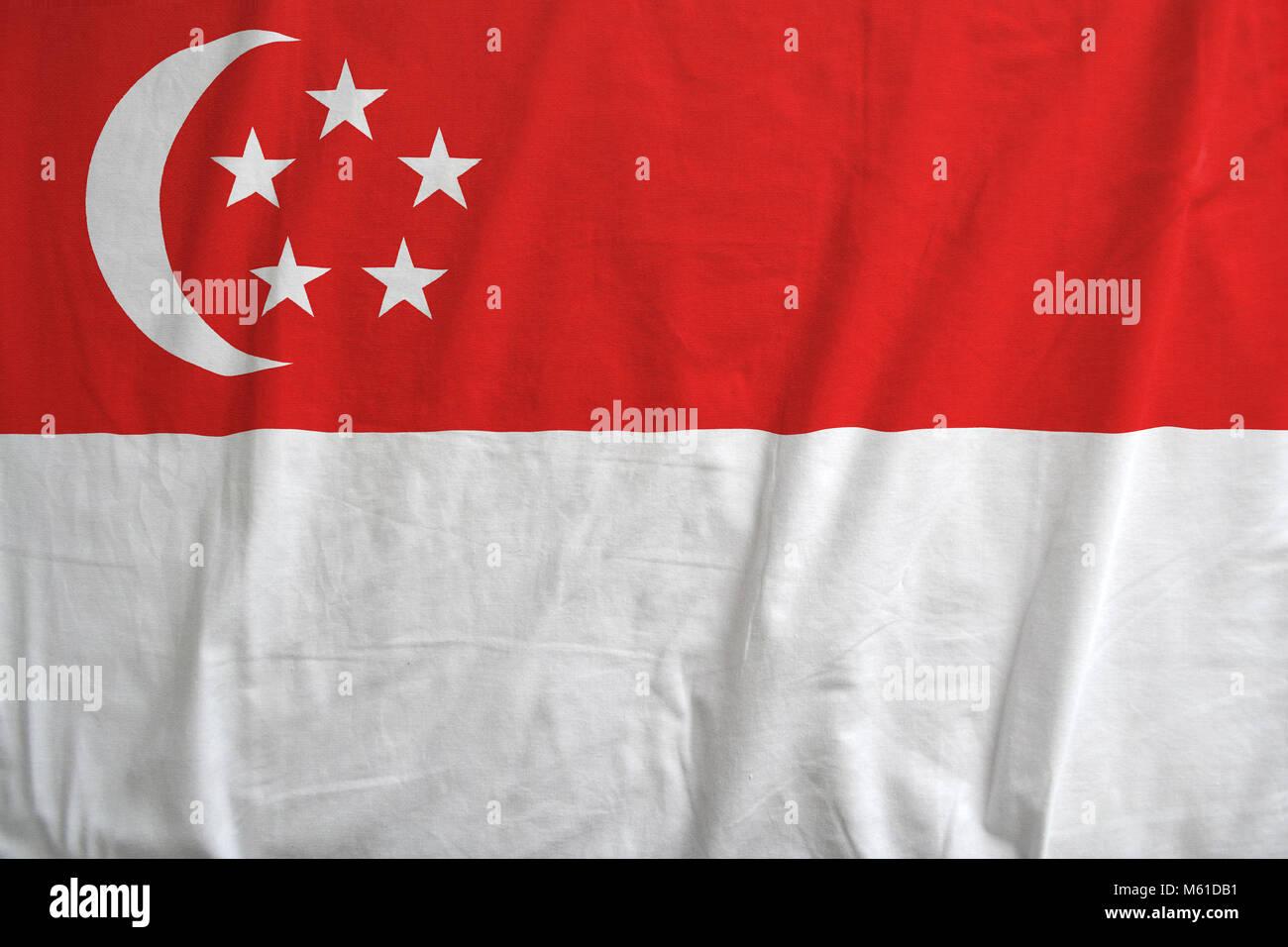 Singapore national flag background texture. - Stock Image