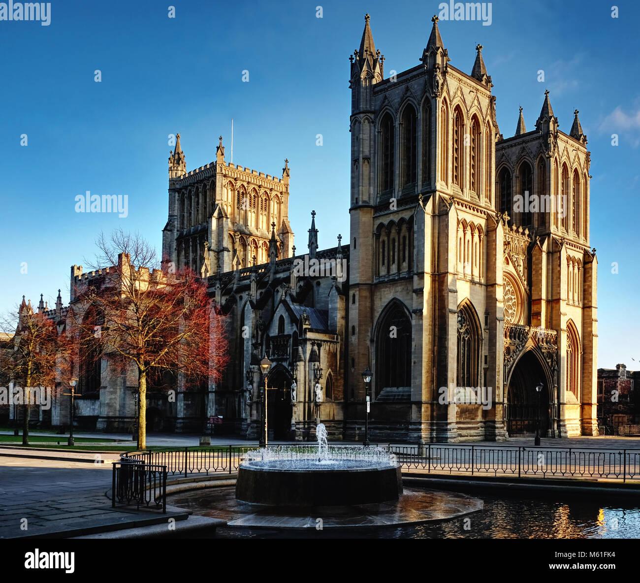 Bristol Cathedral, Bristol, UK - Stock Image