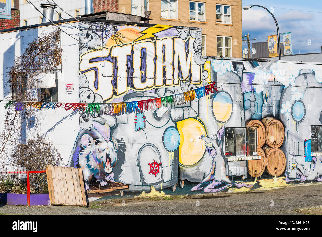 Storm Brewing Company, Commercial Drive, Vancouver, British Columbia, Canada - Stock Image