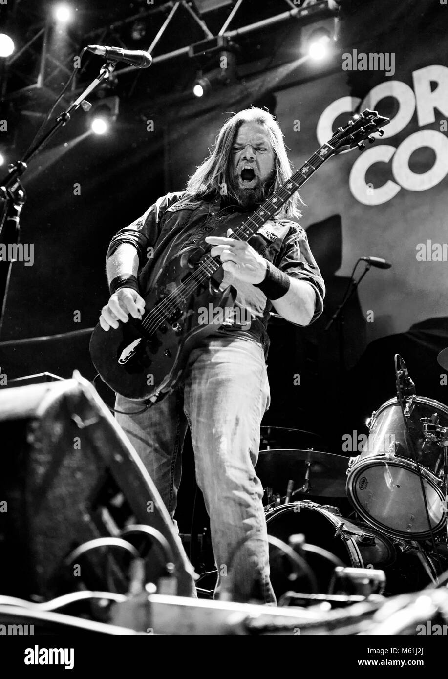 Las Vegas, Nevada, February 23, 2018 - Pepper Keenan of Corrosion of Conformity at the House of Blues in Las Vegas, - Stock Image