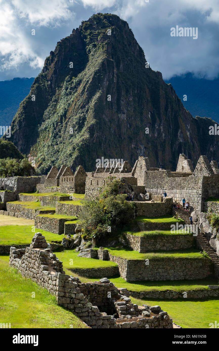 Machu Picchu ruins, Cusco, Peru - Stock Image