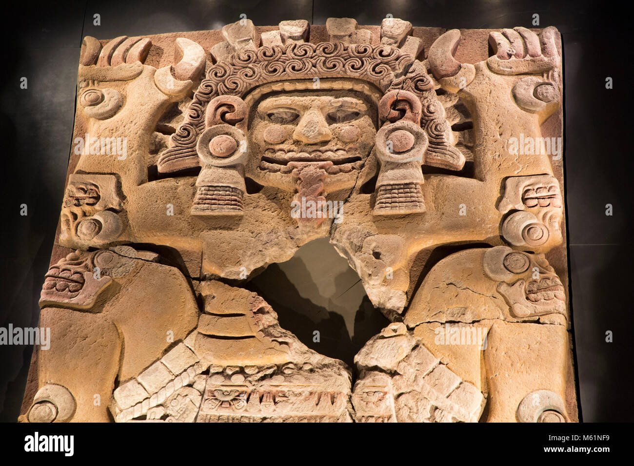 Aztec stone carving templo mayor stock photos & aztec stone carving