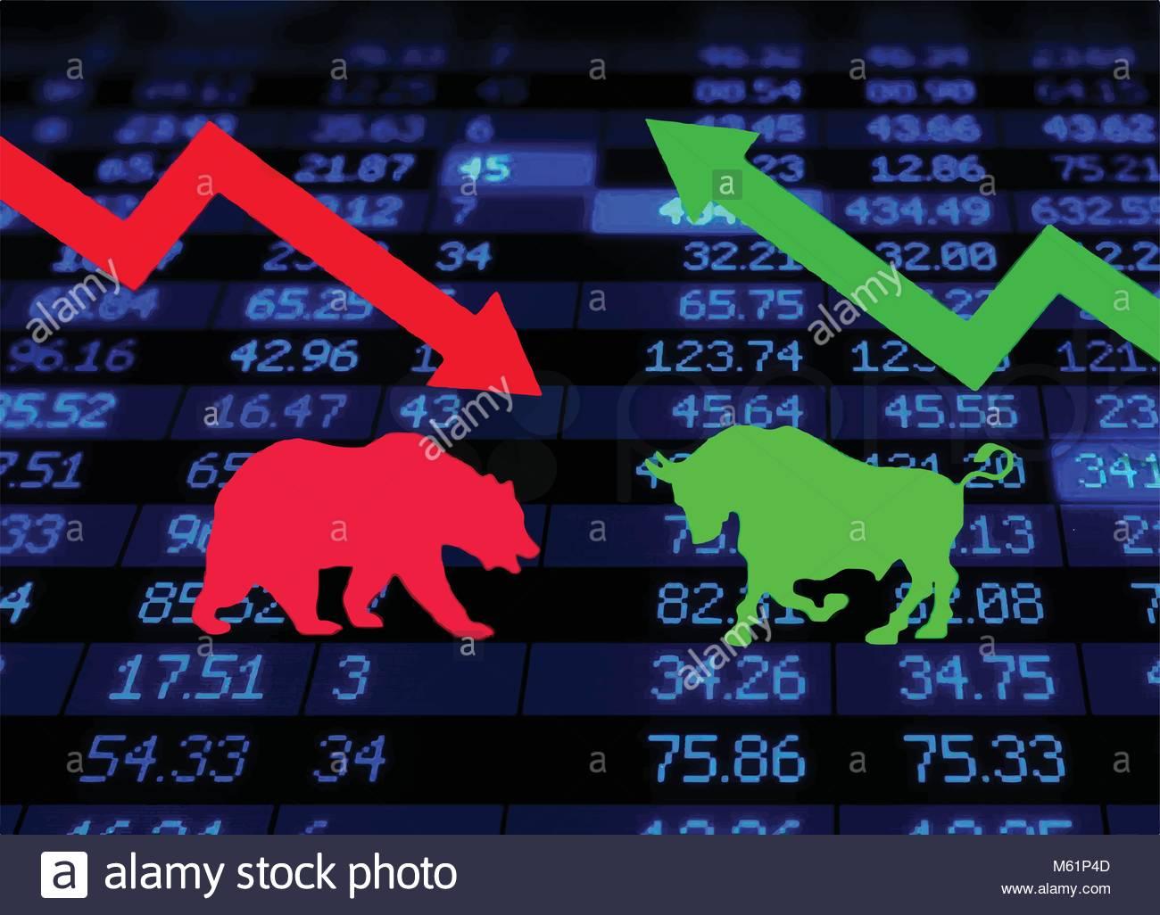 Bear market vector vectors stock photos bear market vector vectors stock market bulls and bears stock image buycottarizona Gallery
