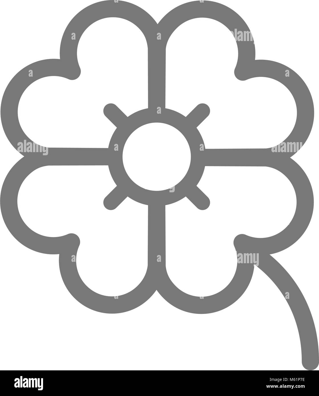 Four Leaf Clover Black And White Stock Photos Images Alamy