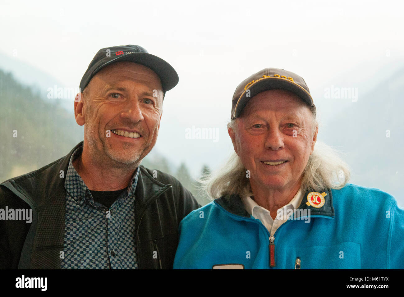 Four Hills Tournament Winner Max Bolkhart (r.) with Georg Berg Stock Photo