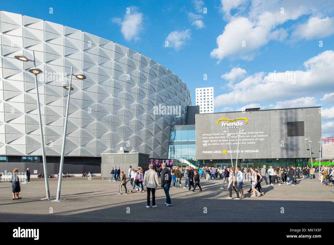 Friends Arena in Stockholm seating 50.000 is the largest stadium in Stockholm and the venue for major sports events - Stock Image