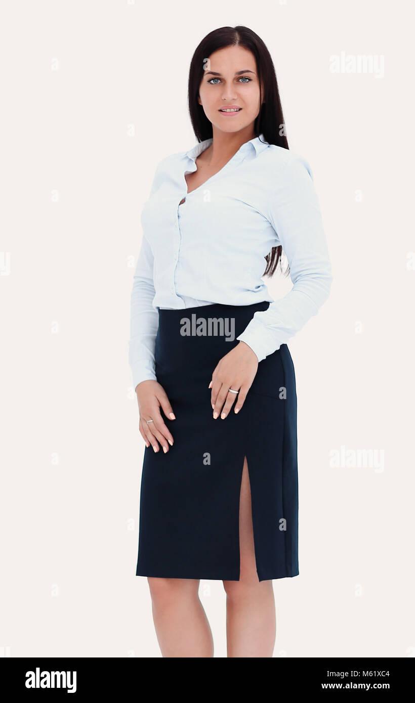 Businesswoman portrait full length - Stock Image