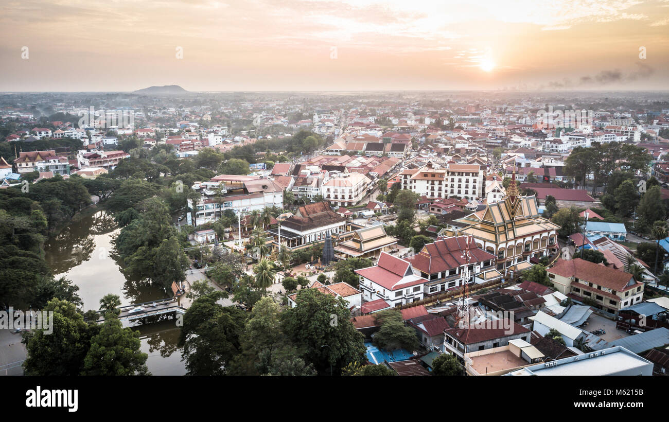 Siem Reap, Cambodia, drone photography - Stock Image