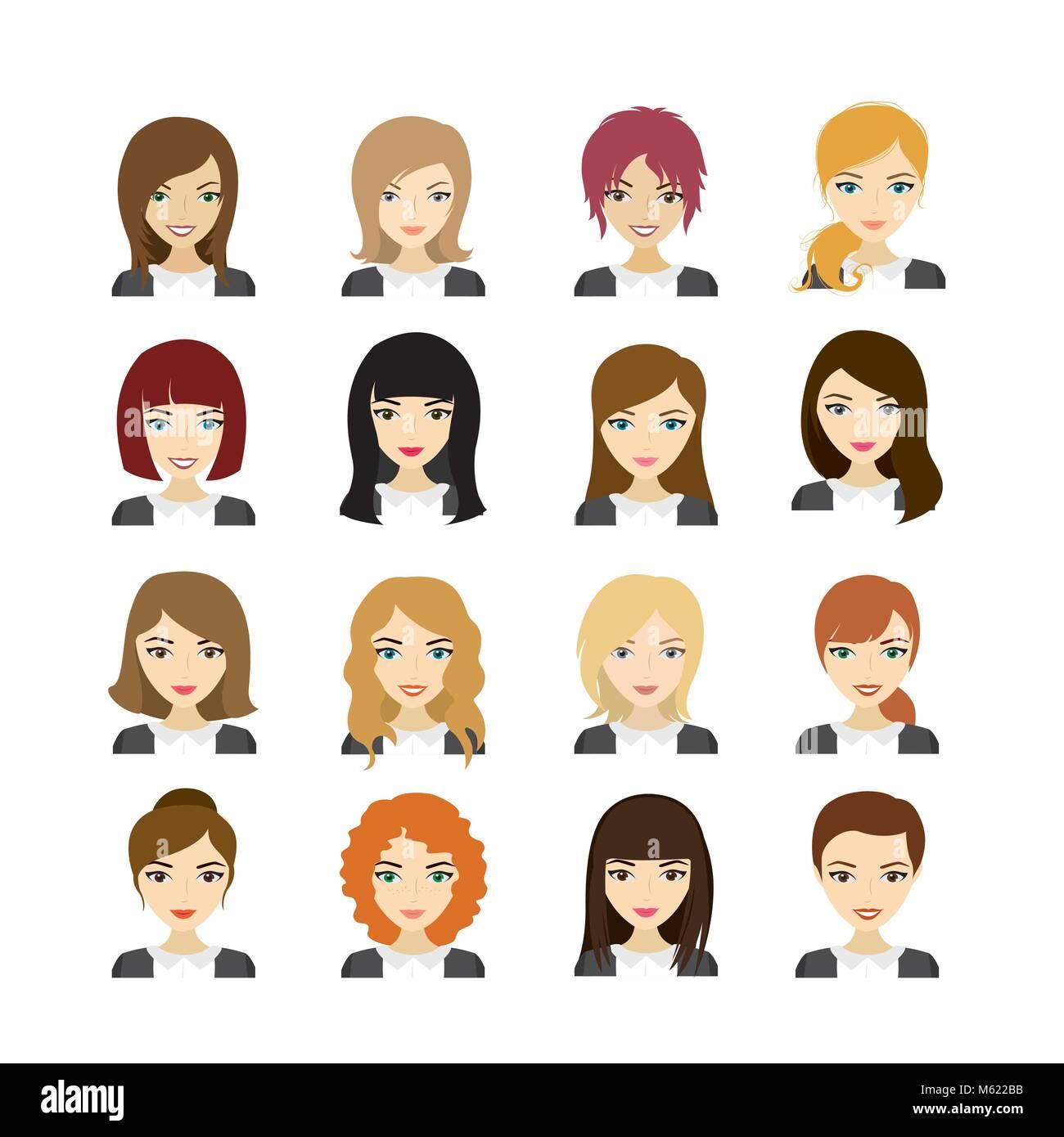 hairstyles vector vectors stock photos hairstyles vector vectors