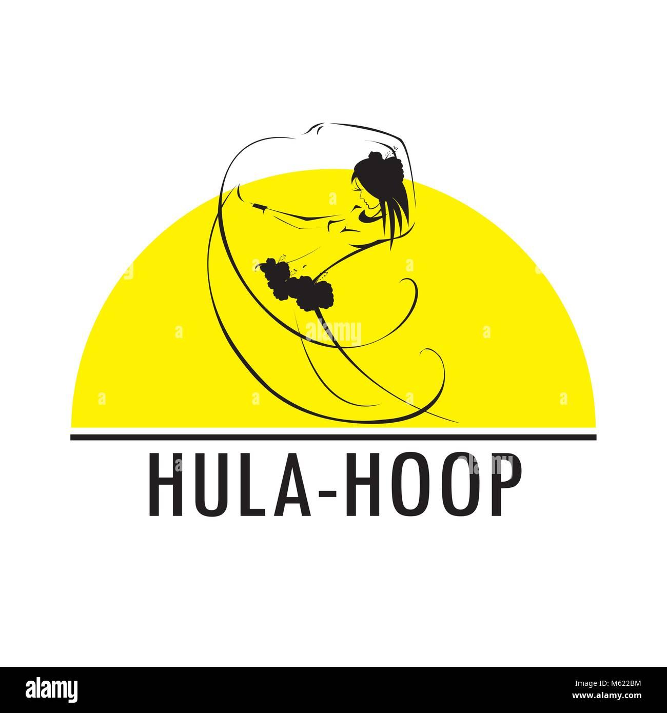 Hawaii hula vector logo design template. Beautiful Dancer icon. - Stock Vector