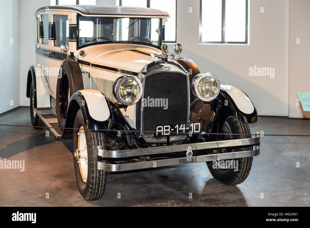 Malaga, Spain - December 7, 2016: Vintage 1927 Cavalier Graham-Paige USA car displayed at Malaga Automobile and - Stock Image