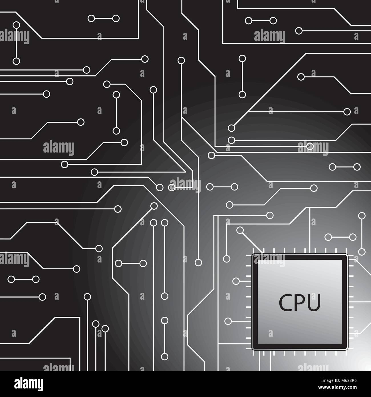Microprocessor Stock Vector Images Alamy Circuit Board Illustration Royalty Free Image Cpu Microchip