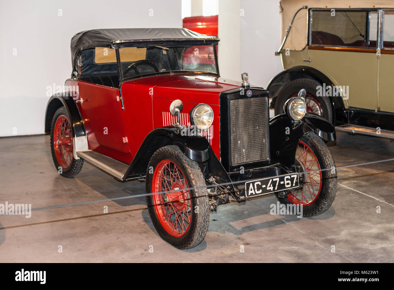 Malaga, Spain - December 7, 2016: The doctor's car Morris Motor (model 1931) UK displayed at Malaga Car Museum - Stock Image