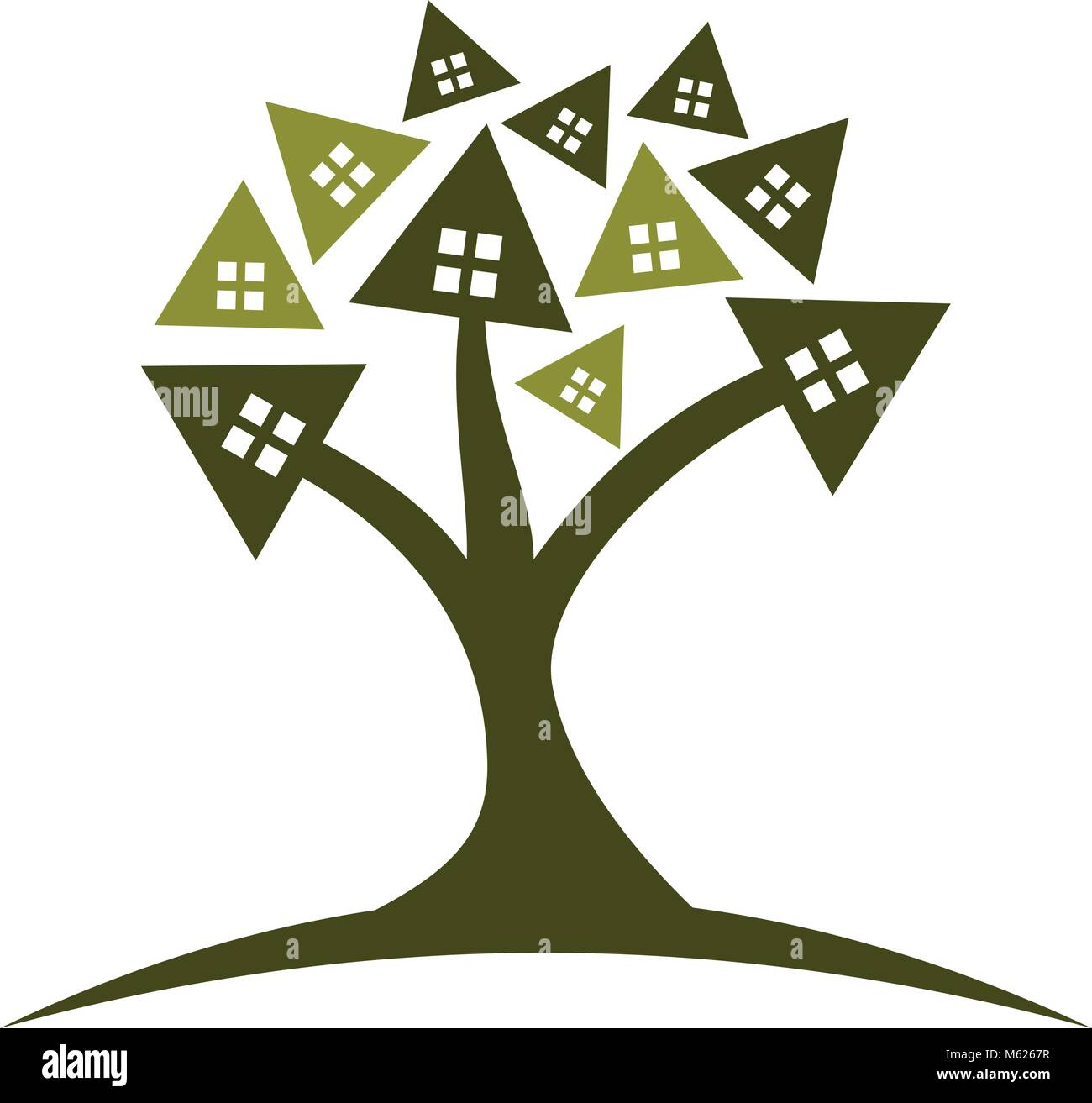 Tree of House Stock Vector