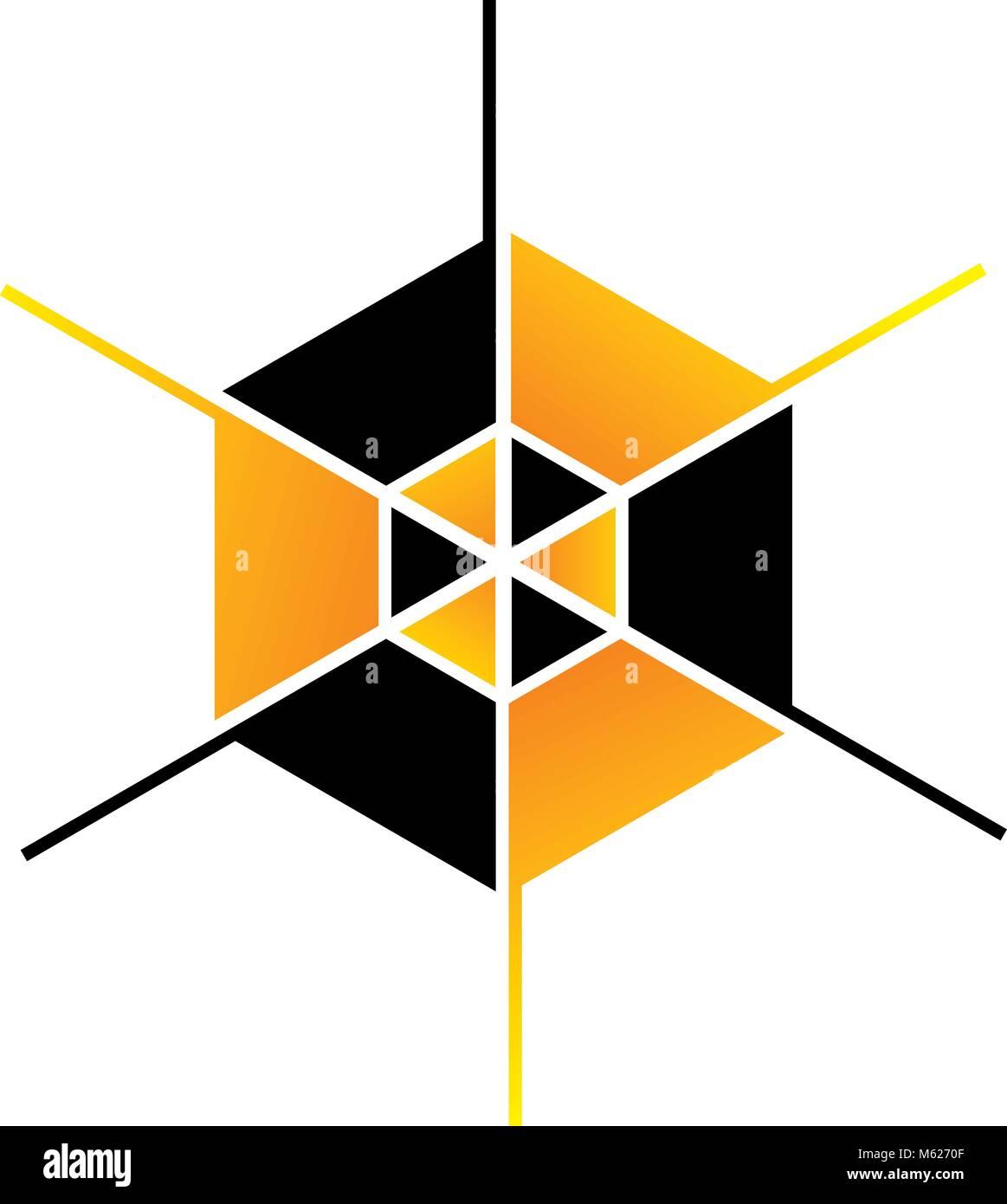 Hexagon Logo Design Template Vector - Stock Vector