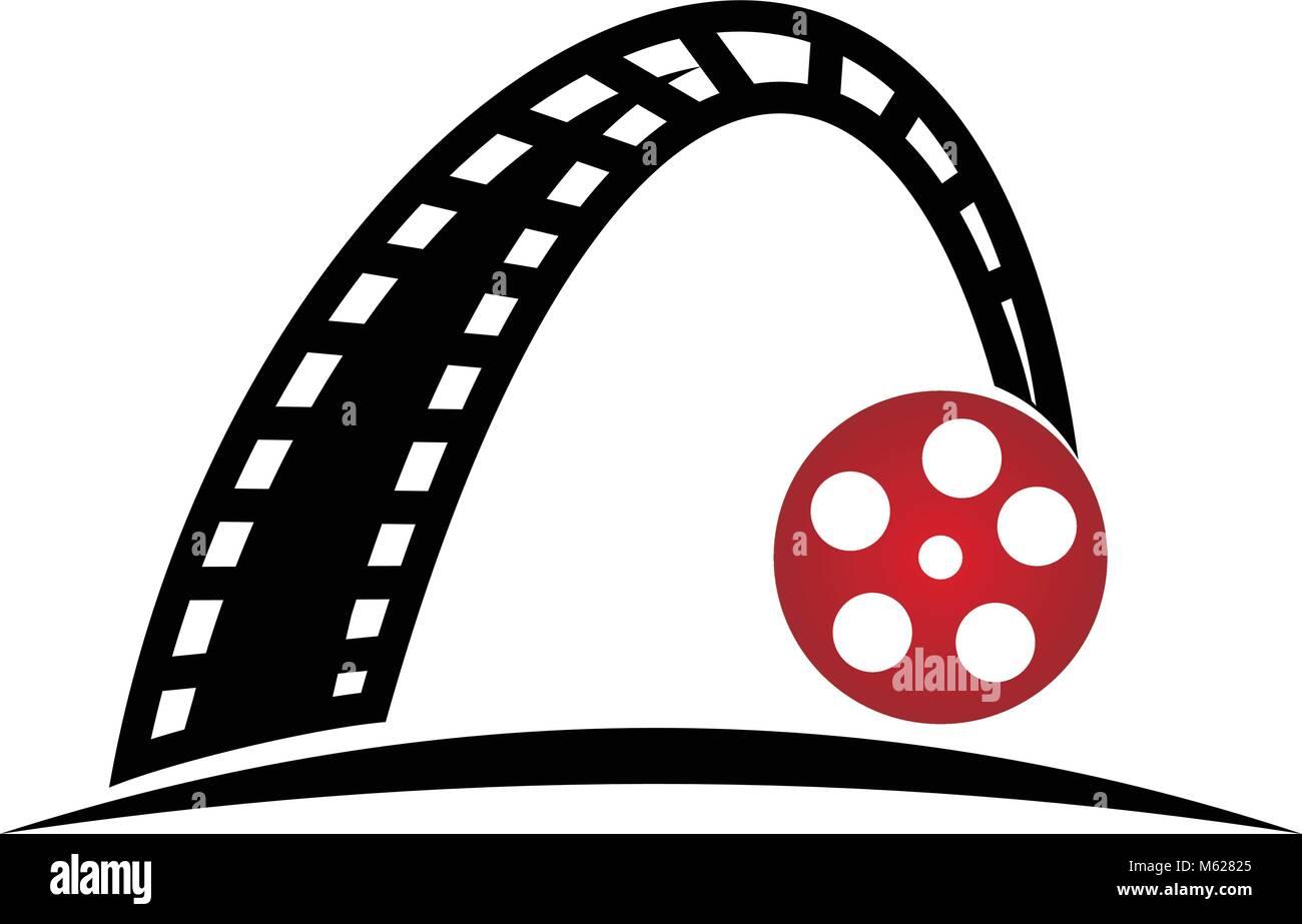 dynamic filmstrip logo design template vector stock vector art rh alamy com
