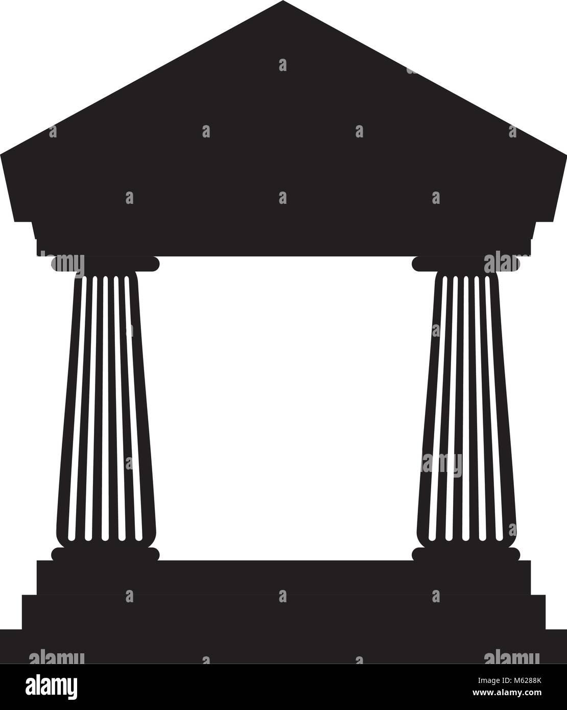 Bank building symbol icon vector illustration graphic design - Stock Vector