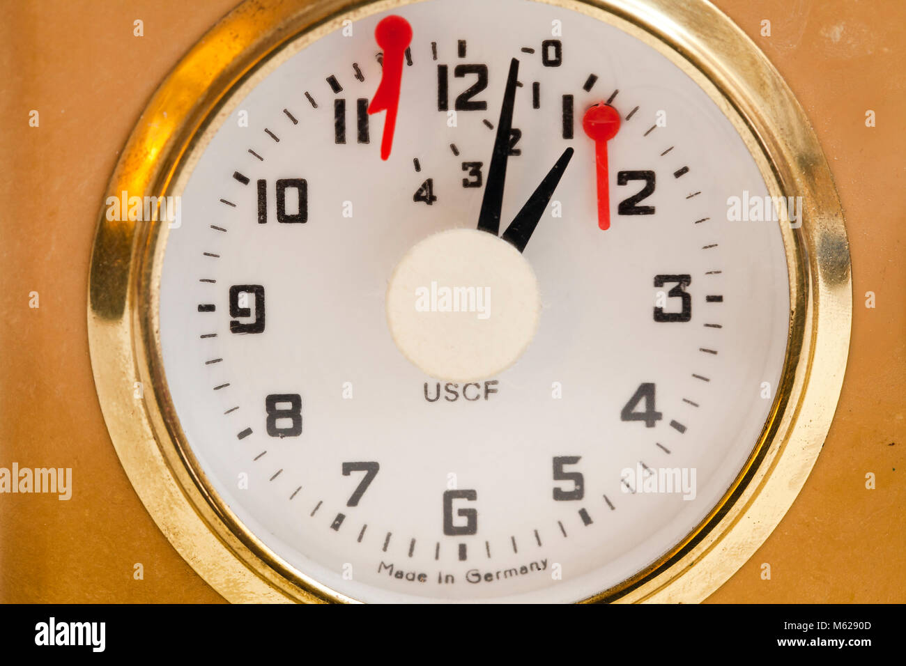 Analog chess clock (mechanical game timer) - Stock Image