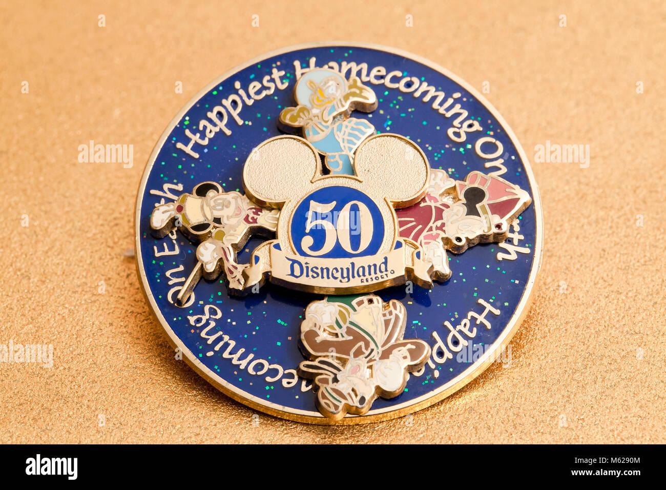 Disneyland 50th Anniversary souvenir - USA - Stock Image
