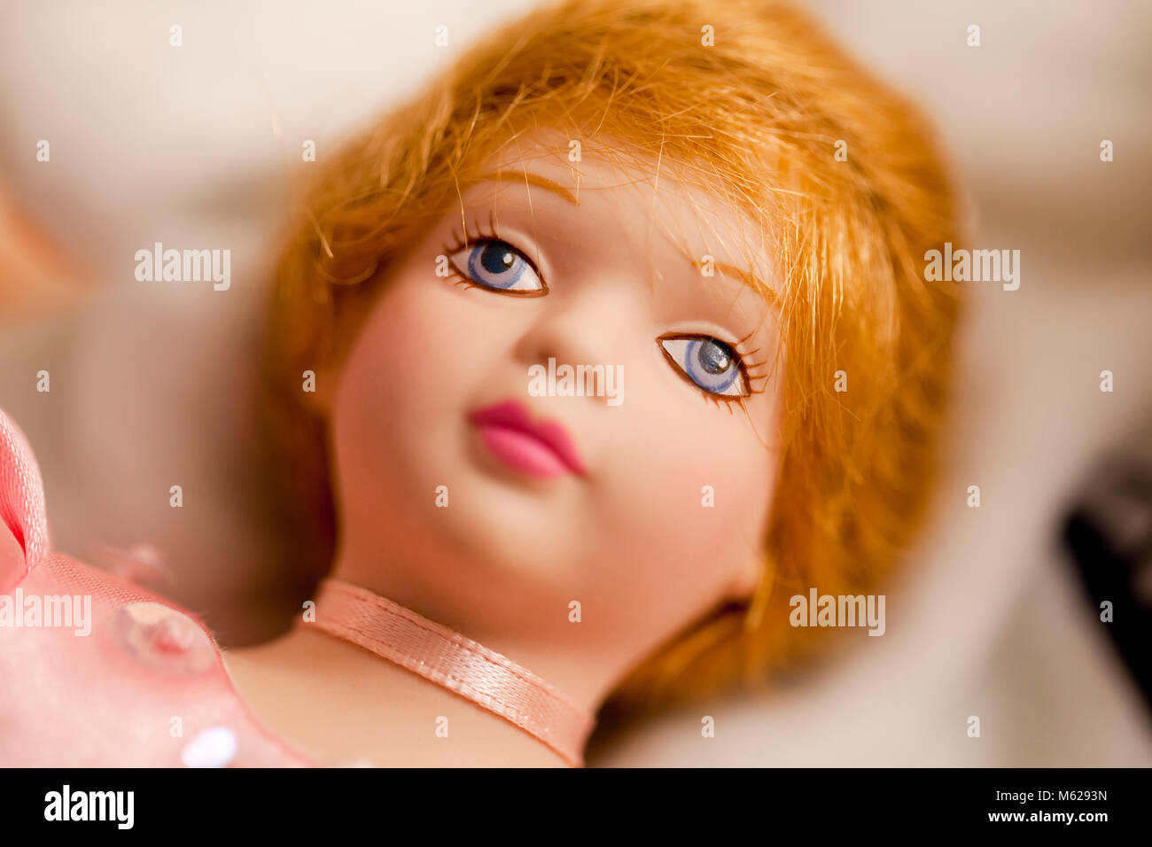 Bisque doll (Porcelain doll) - Stock Image