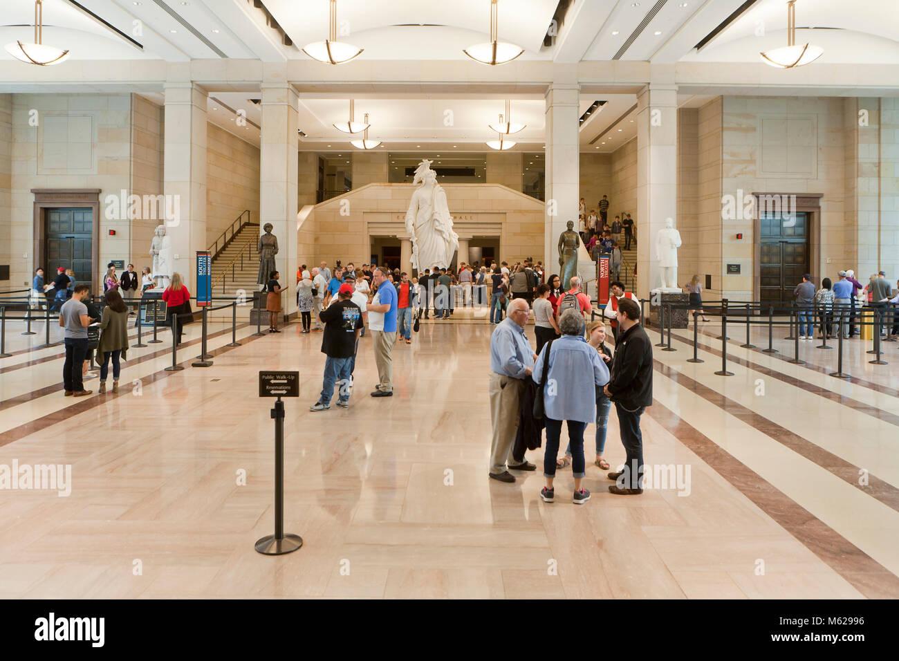 US Capitol building visitor center - Washington, DC USA - Stock Image