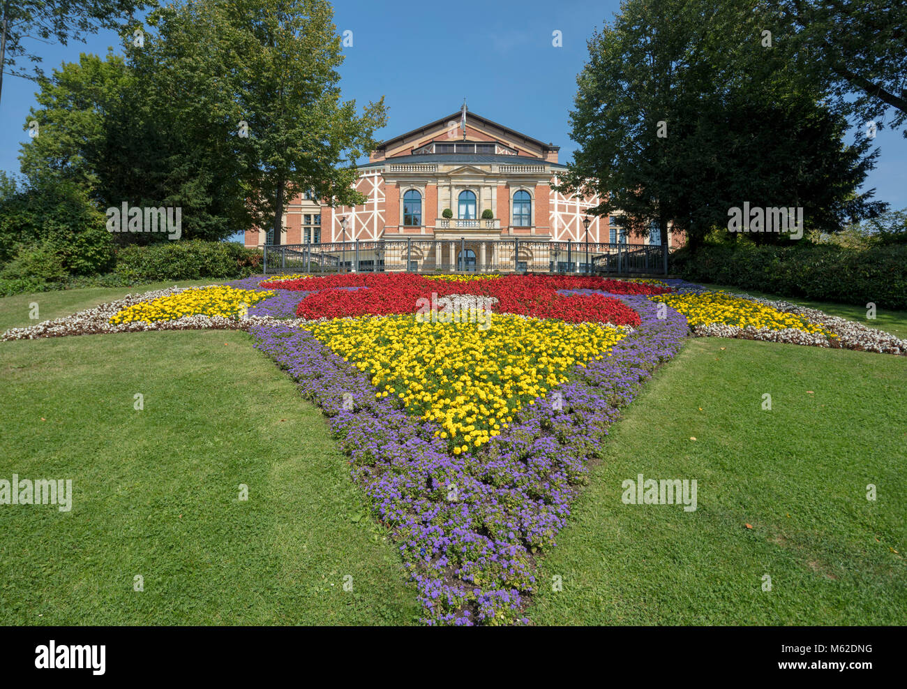 The Bayreuth Festspielhaus or Bayreuth Festival Theatre opera house, Franconia, Bavaria, Germany - Stock Image