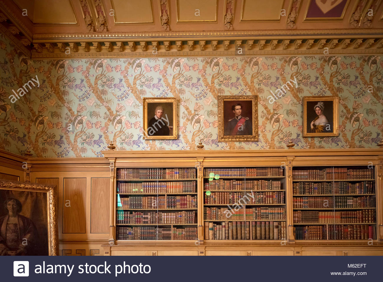 living or reception room in Wahnfried, the villa of Richard Wagner in  Bayreuth, Bavaria, Germany Stock Photo