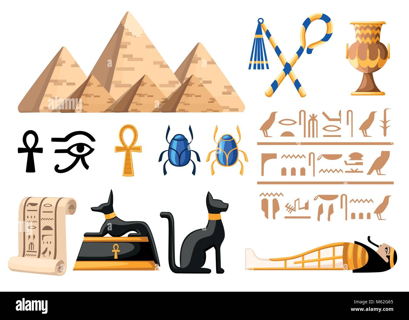 Pharaoh stock vector images alamy