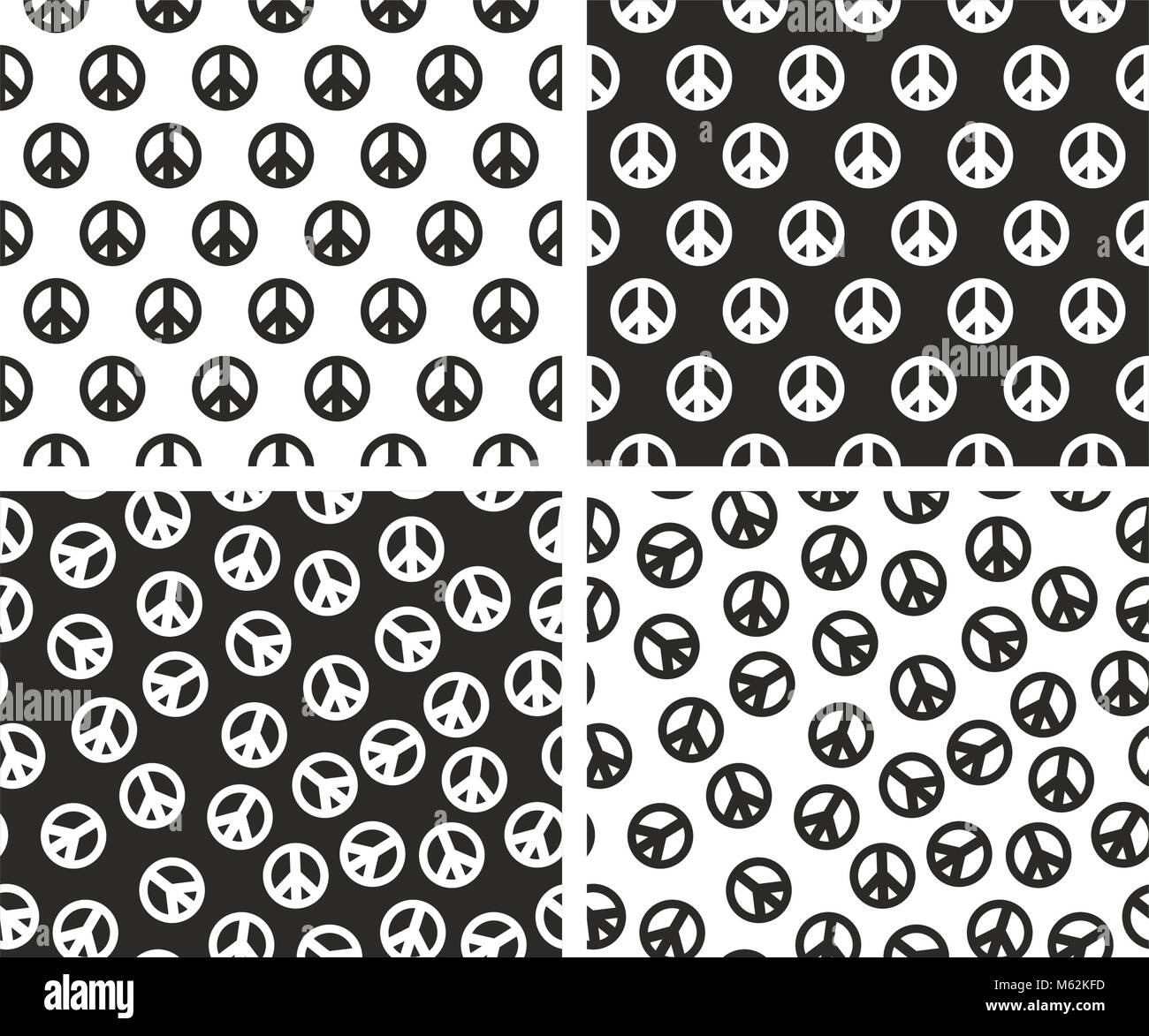 Peace sign stock vector images alamy peace sign seamless pattern set stock vector biocorpaavc Choice Image