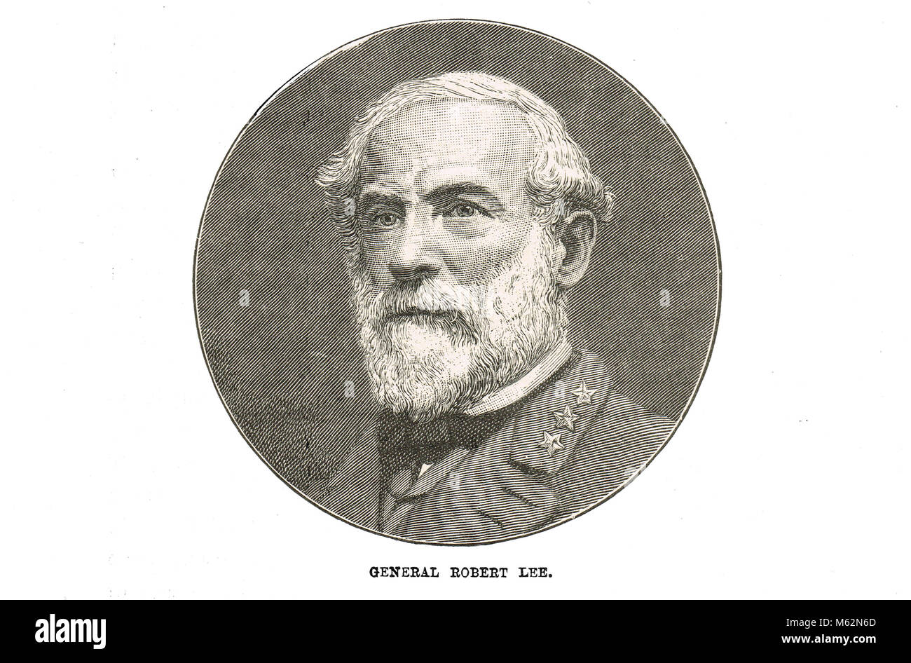 General Robert E. Lee, commander of the Confederate States Army,  American Civil War - Stock Image
