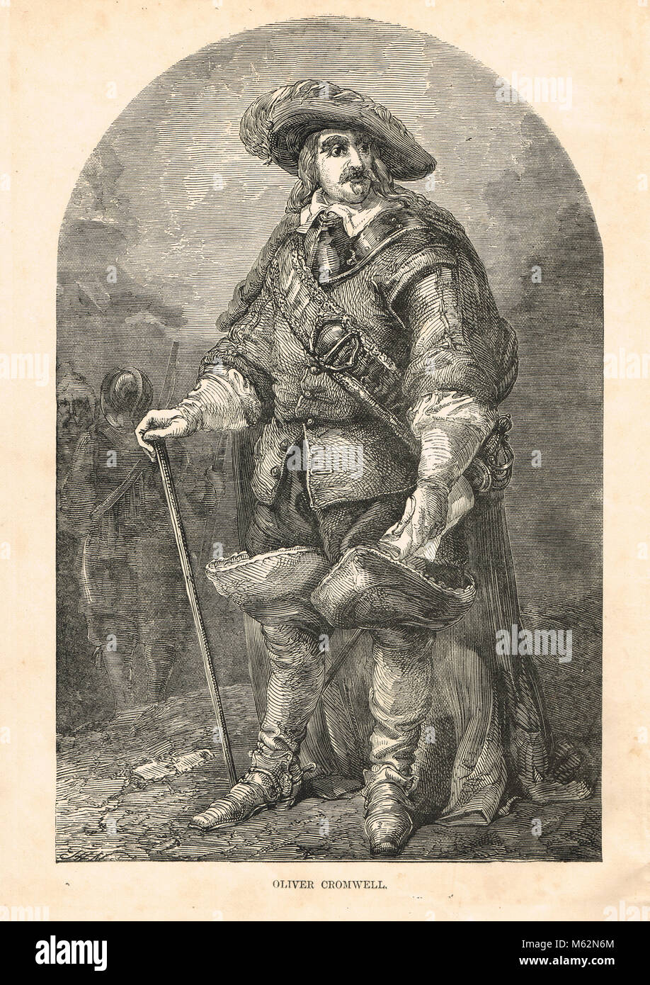 Oliver Cromwell, (1599-1658) Stock Photo