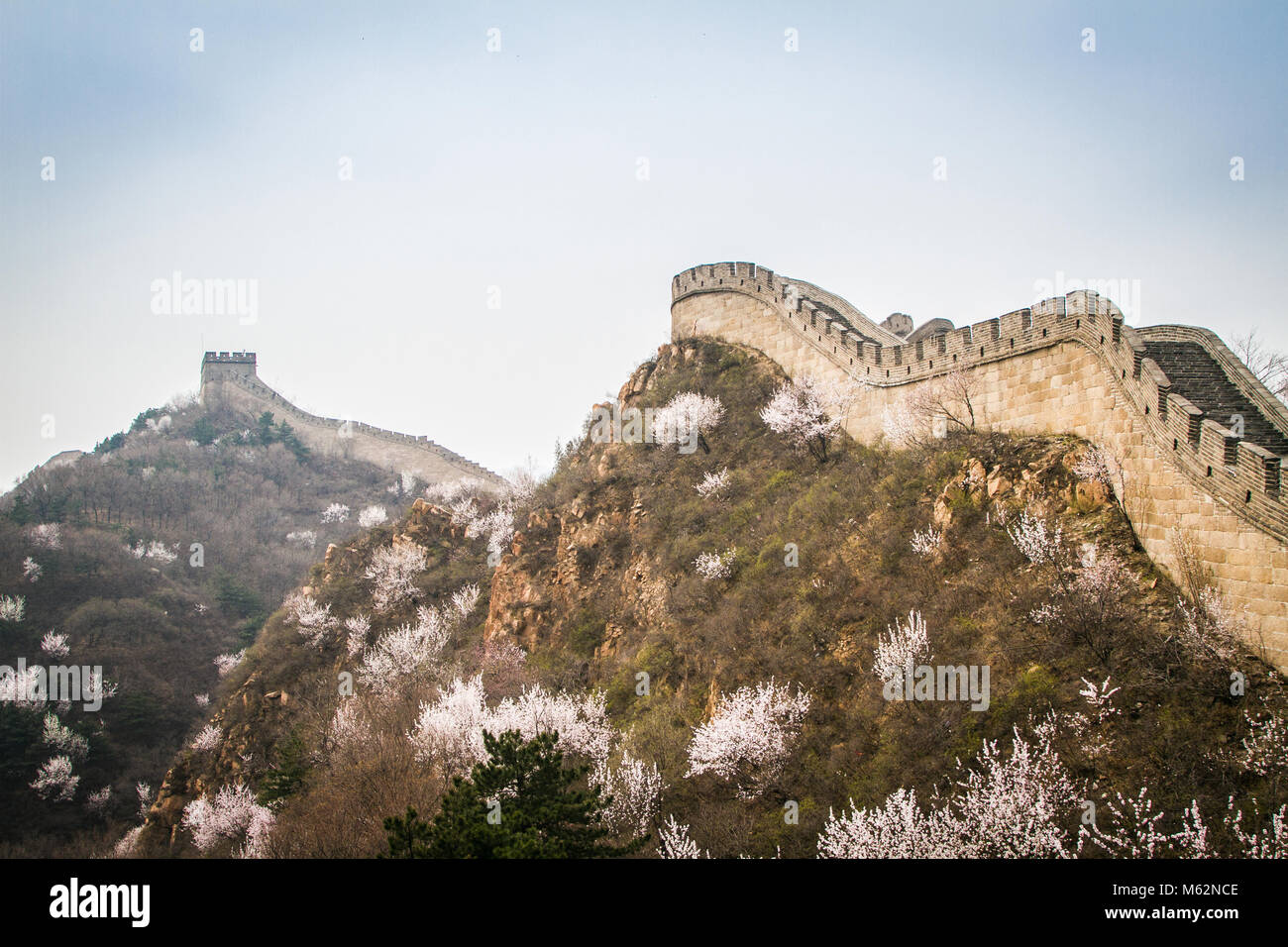 Great Wall of China, the Badaling section Stock Photo