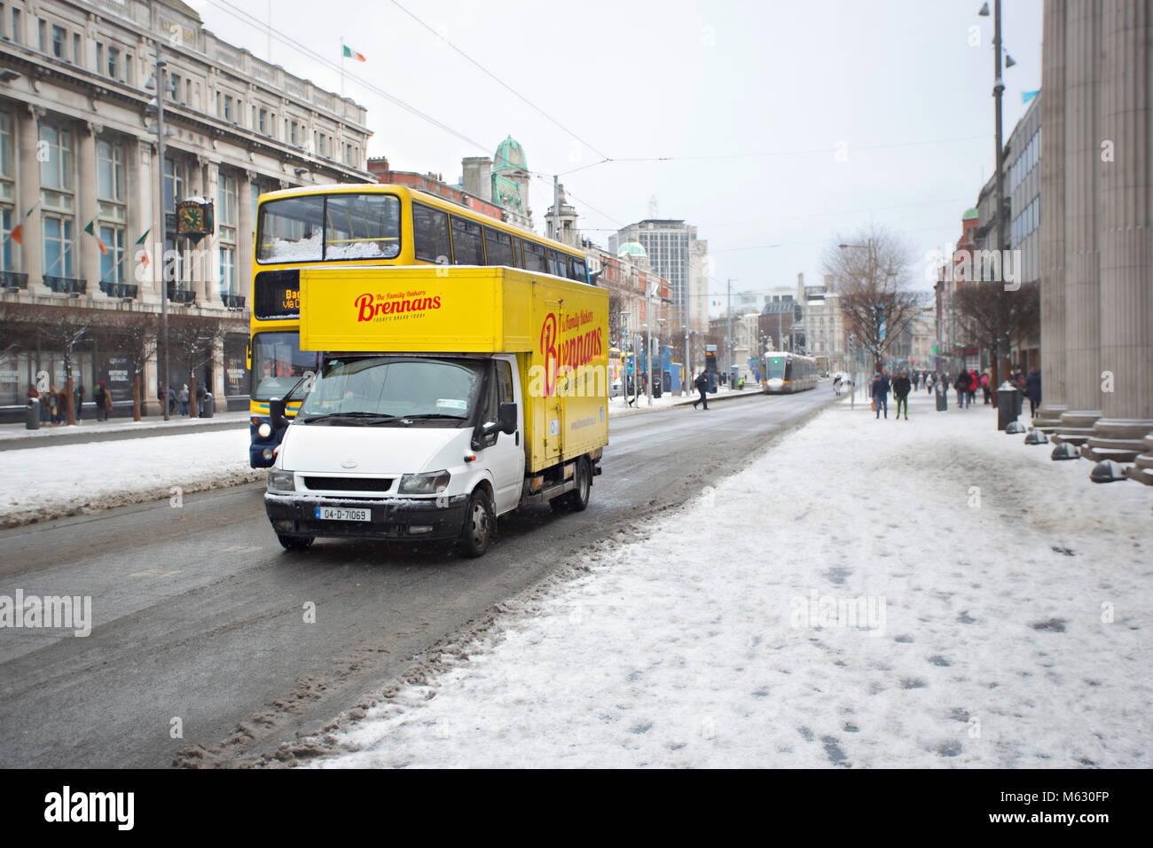 Dublin Snow Winter Stock Photos & Dublin Snow Winter Stock