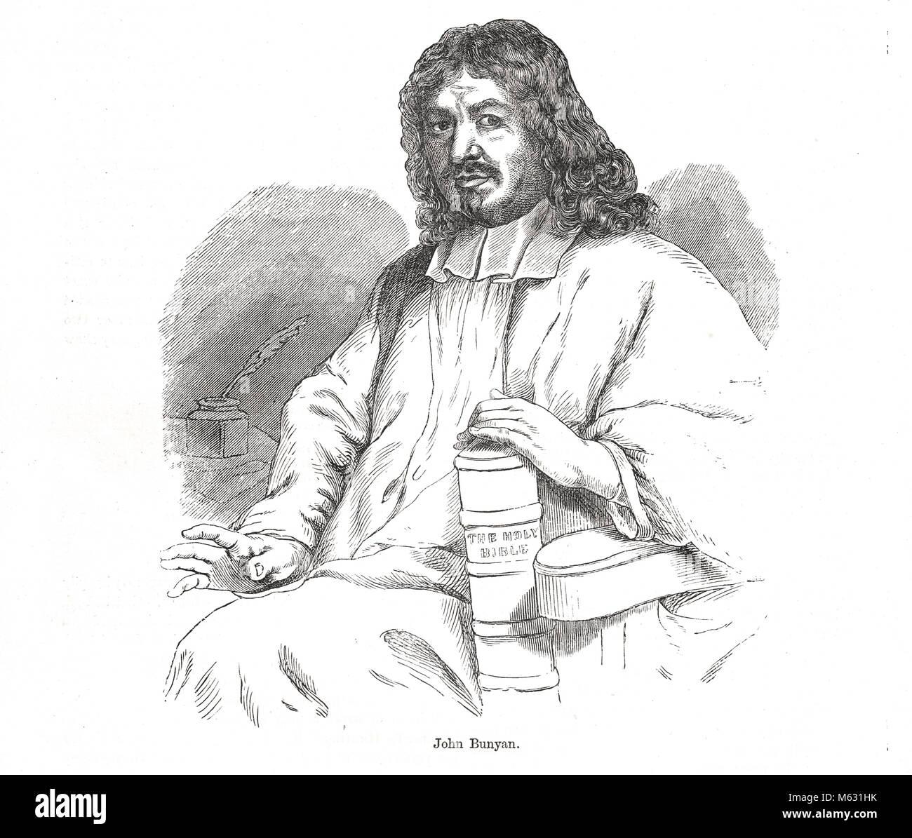 John Bunyan, English writer, Puritan preacher and author of The Pilgrim's Progress - Stock Image