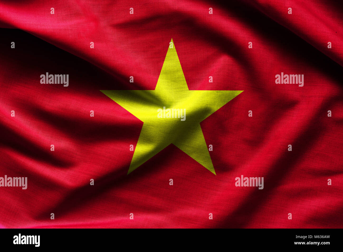 Waving flag of Vietnam - Stock Image