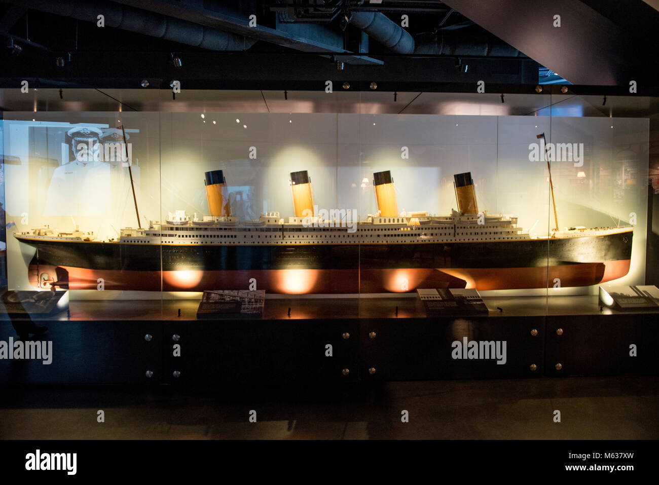Titanic ship miniature at the Titanic Museum - Stock Image