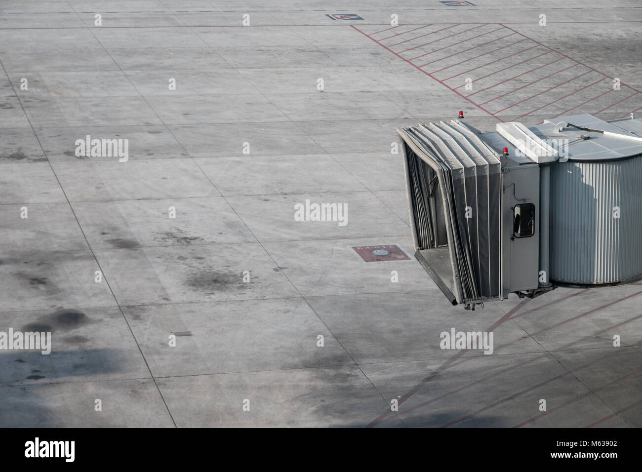 abstract of a skybridge at Barcelona airport - Stock Image