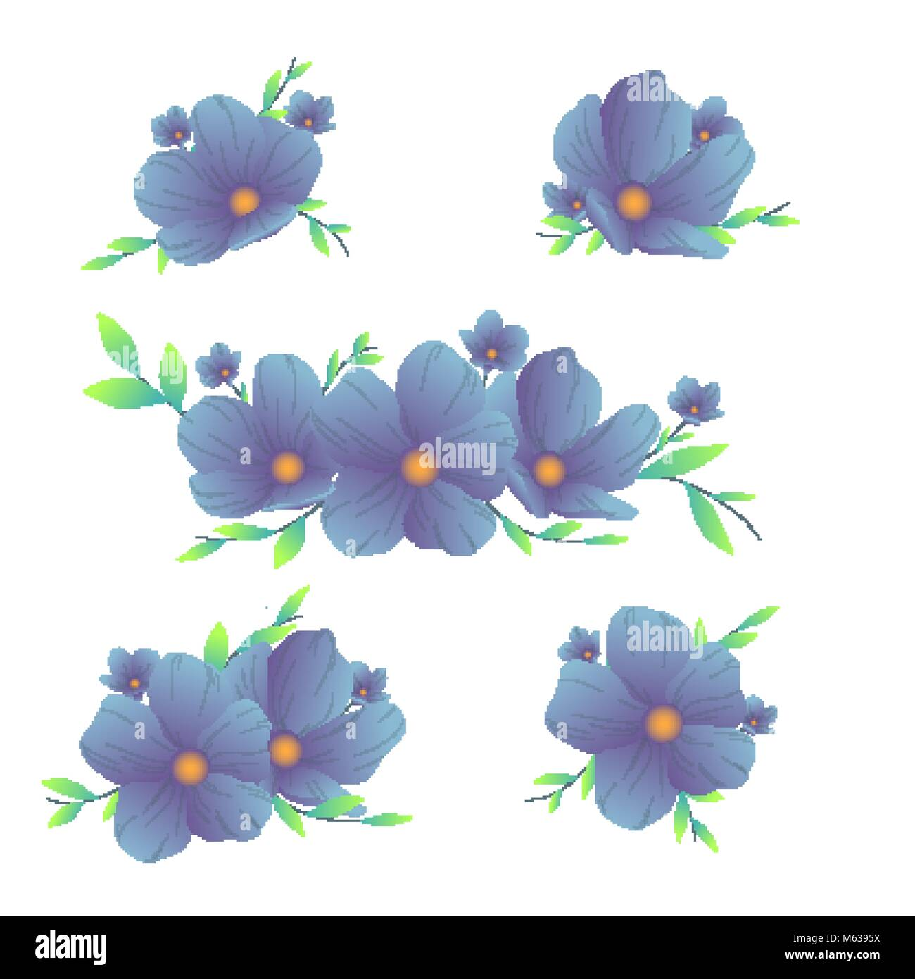 Spring flowers trendy flowers set of different design compositions spring flowers trendy flowers set of different design compositions mightylinksfo