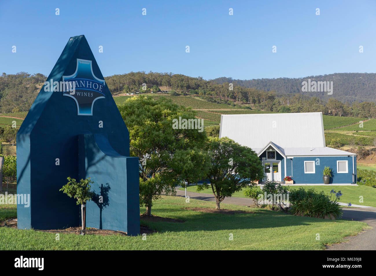 Ivanhoe Wine Estate, Hunter Valley, New South Wales, Australia - Stock Image
