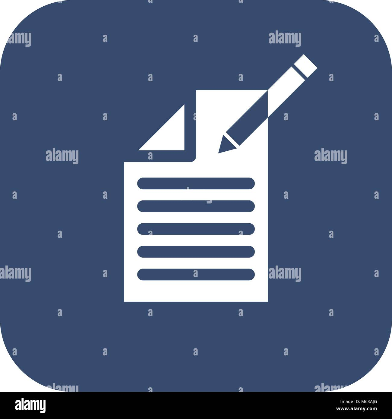 Edit document sign icon. Edit content button. Icon on blurred background. - Stock Vector